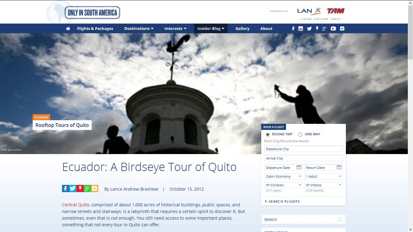 LAN - Ecuador: A Birdseye Tour of Quito