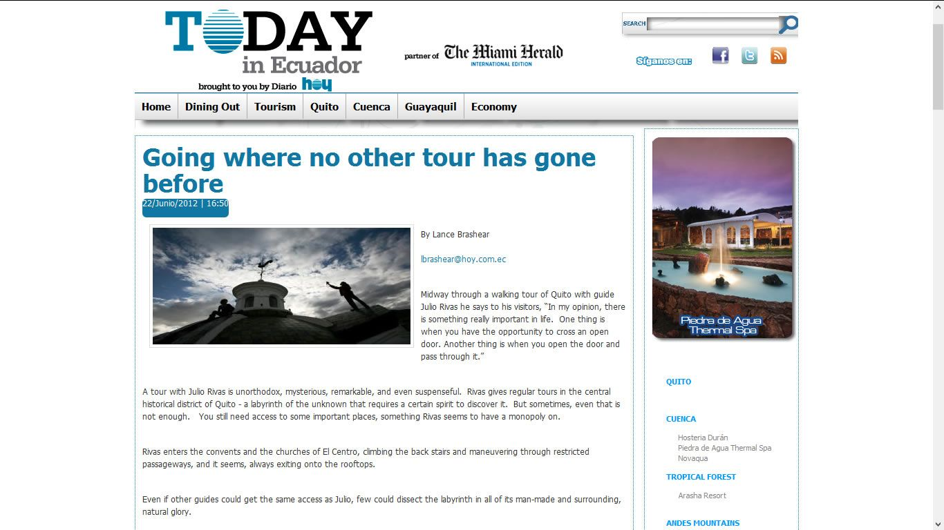 The Miami Herald - Going where no other tour has gone before